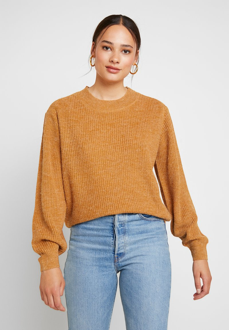ICHI - NOVO - Strickpullover - brown sugar
