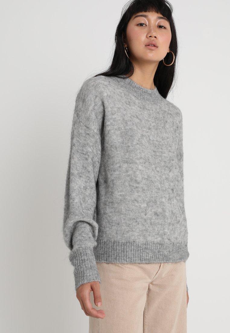 ICHI - AMARA - Strickpullover - grey melange
