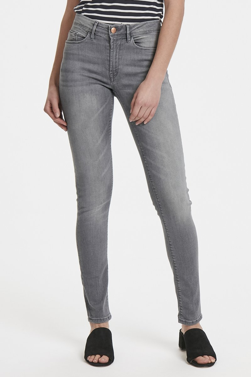 ICHI - ERIN IZARO - Jeans Skinny Fit - light grey
