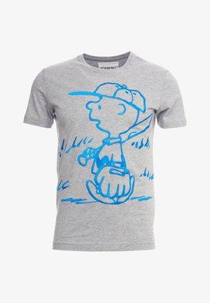 T-shirt imprimé - grigio chiaro melange
