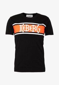 Iceberg - STRIPE LOGO - T-shirt con stampa - nero - 3