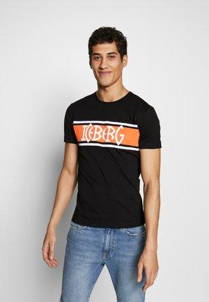 STRIPE LOGO - T-shirt med print - nero