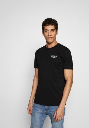 BACK LOGO - T-shirt con stampa - nero