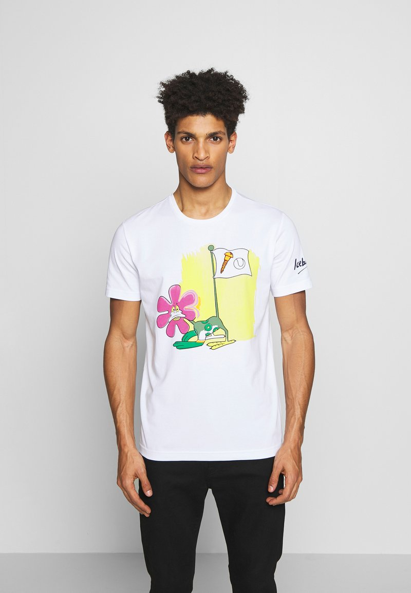 Iceberg - CARTOON - T-shirt con stampa - bianco ottico