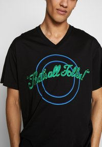Iceberg - OVERSIZE THAT'S ALL FOLKS - T-shirt con stampa - nero - 4