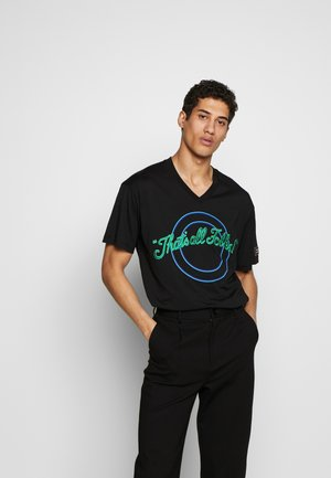 OVERSIZE THAT'S ALL FOLKS - T-shirt con stampa - nero