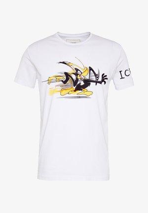 DAFFY DUCK CARTOON - T-shirt con stampa - bianco ottico