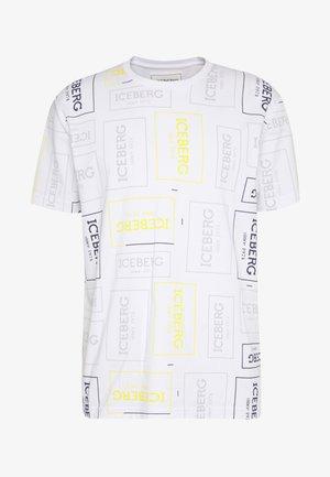 ALLOVER LOGO - T-shirt con stampa - bianco