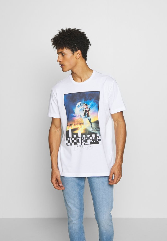 FUTURE - Printtipaita - bianco ottico