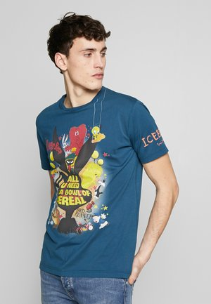 ALL YOU NEED IS A BOWL OF CEREAL - Camiseta estampada - bluette
