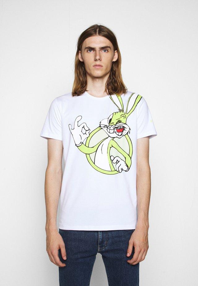 T-shirt med print - bianco ottico