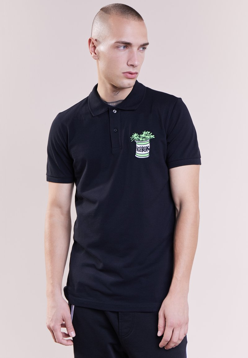 Iceberg - SPINACH - T-shirts med print - black