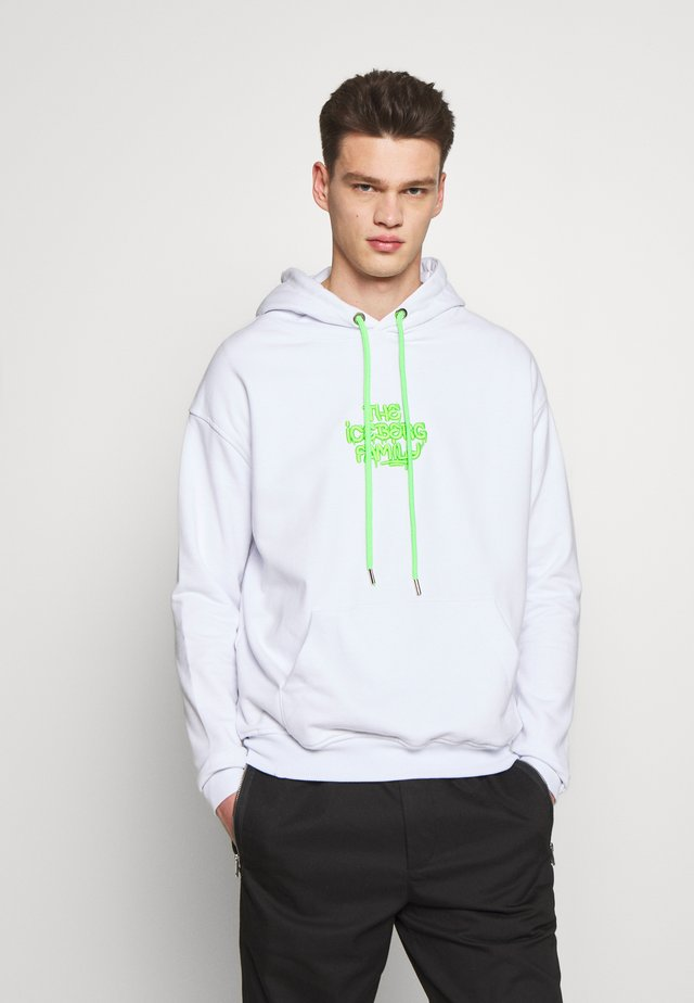 HOODIE VANDAL - Mikina s kapucí - white/green fluo