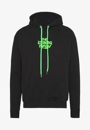 HOODIE VANDAL - Huppari - black/green fluo