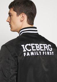 Iceberg - EMBROIDERED - Bomberjacks - black - 5