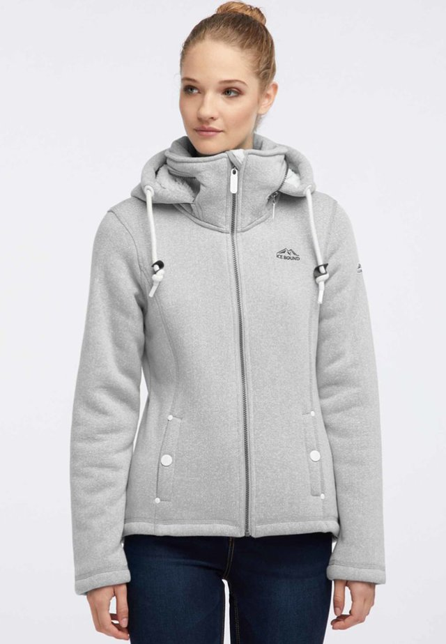 Fleece jacket - grey melange