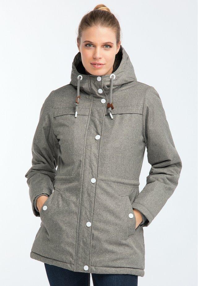 Winter coat - steingrau melange
