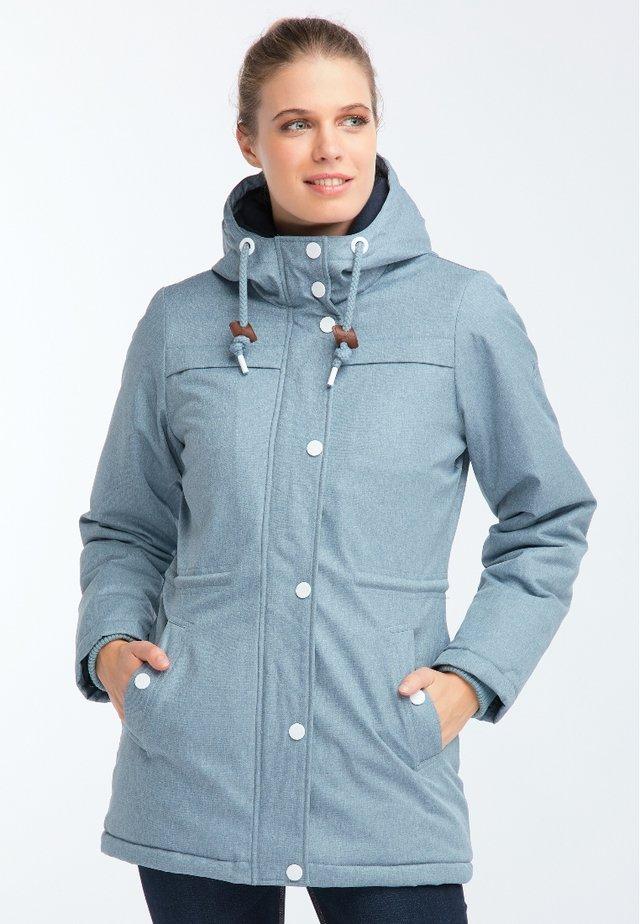 Winter coat - rauchblau melange