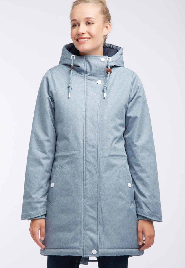 Płaszcz zimowy - smoke blue melange