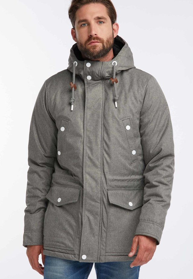 Winter coat - mottled grey