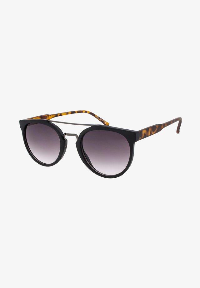 SOO-HIE - Okulary przeciwsłoneczne - matt black/matt tortoise