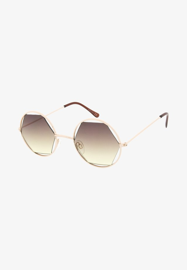 JOLIE - Okulary przeciwsłoneczne - pale gold/yellow