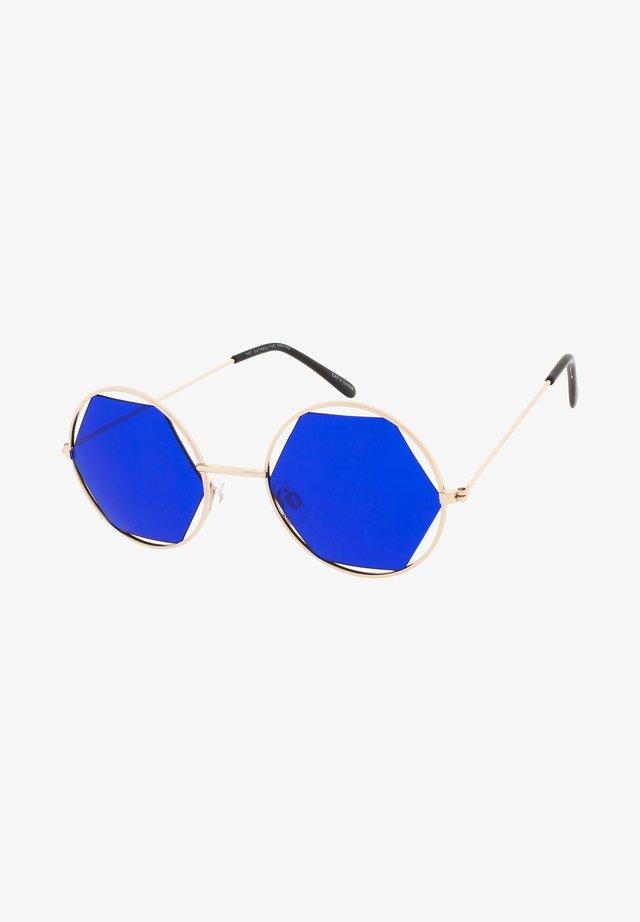 JOLIE - Okulary przeciwsłoneczne - pale gold/blue