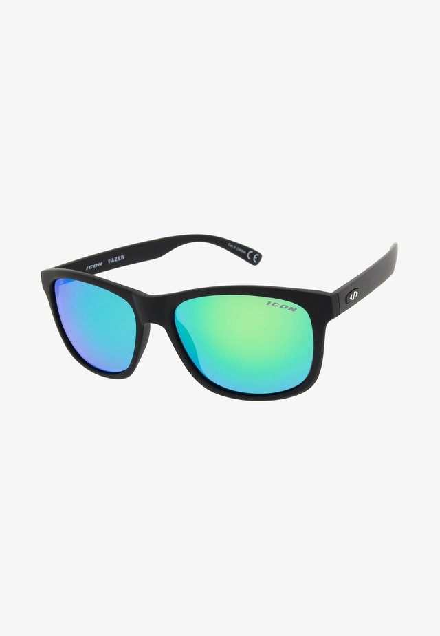FAZER - Sportbril - matt black/blue