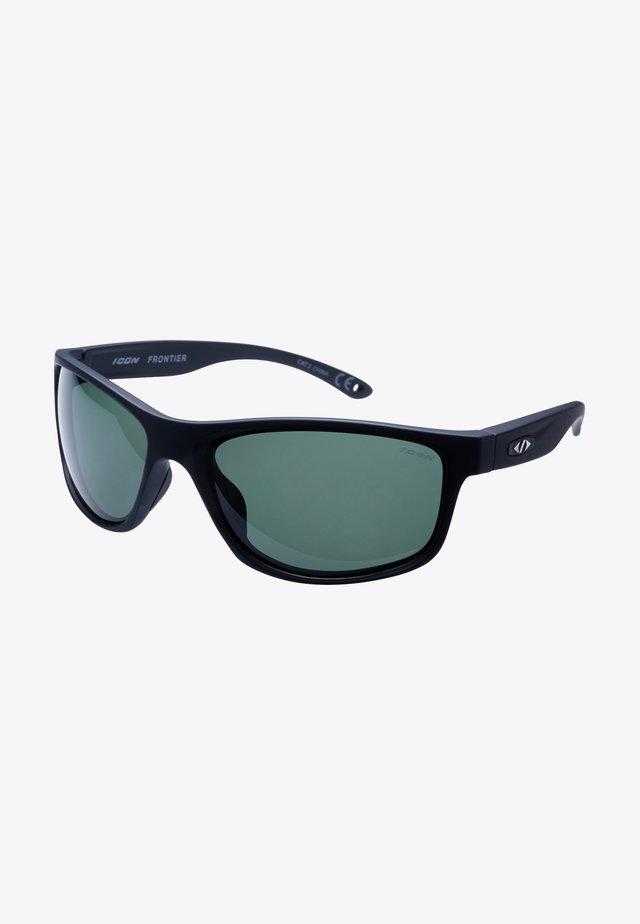 FRONTIER - Sportbril - black/green