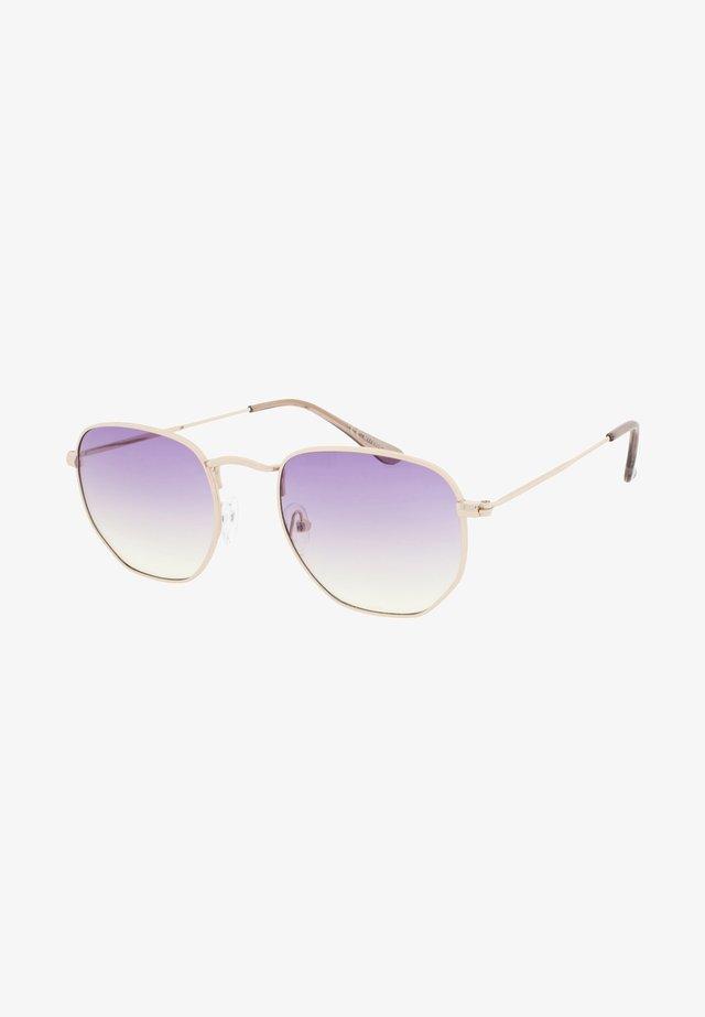 AUGUST - Okulary przeciwsłoneczne - gold/purple