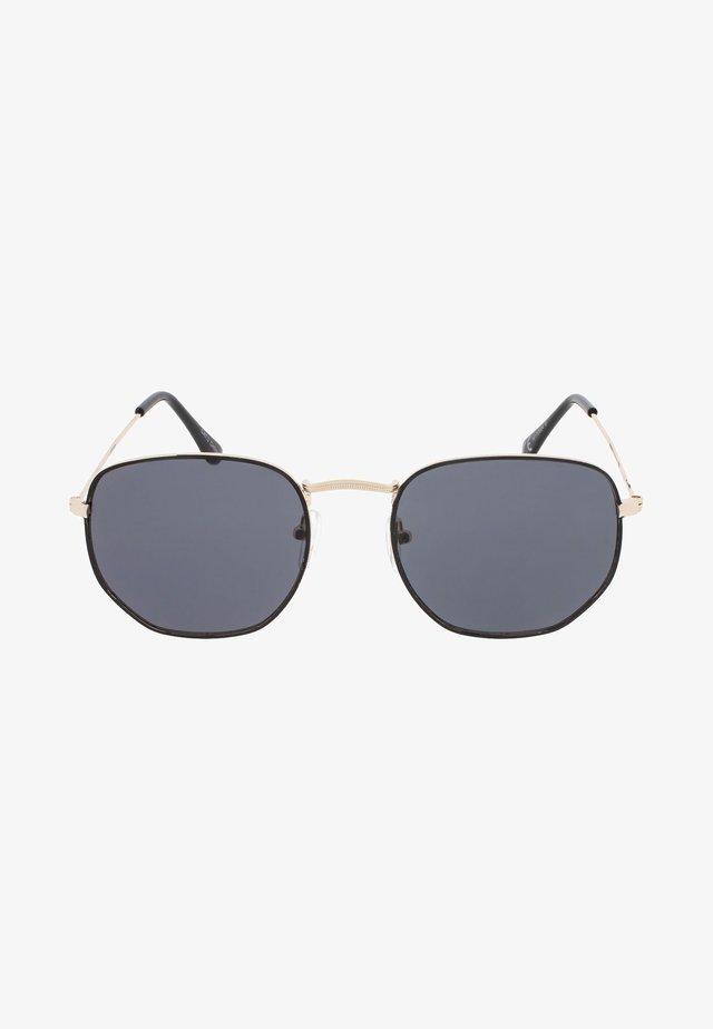 AUGUST - Okulary przeciwsłoneczne - black & gold