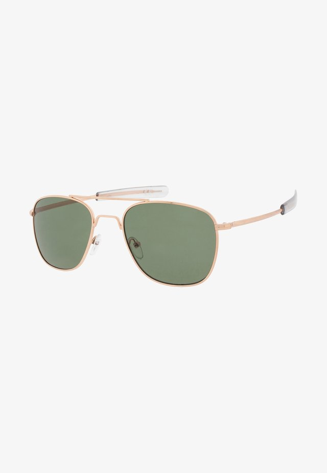 RYAN - Solglasögon - gold/green
