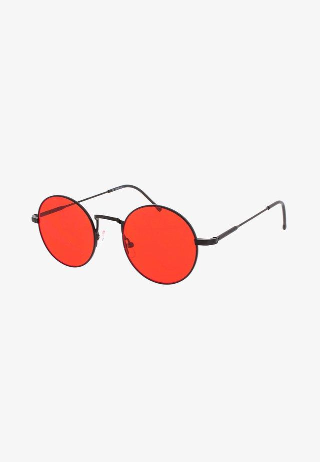 PINCH - Okulary przeciwsłoneczne - matt black/red