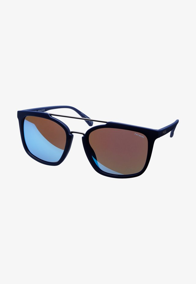 SPADER - Okulary sportowe - navy blue rubber finish
