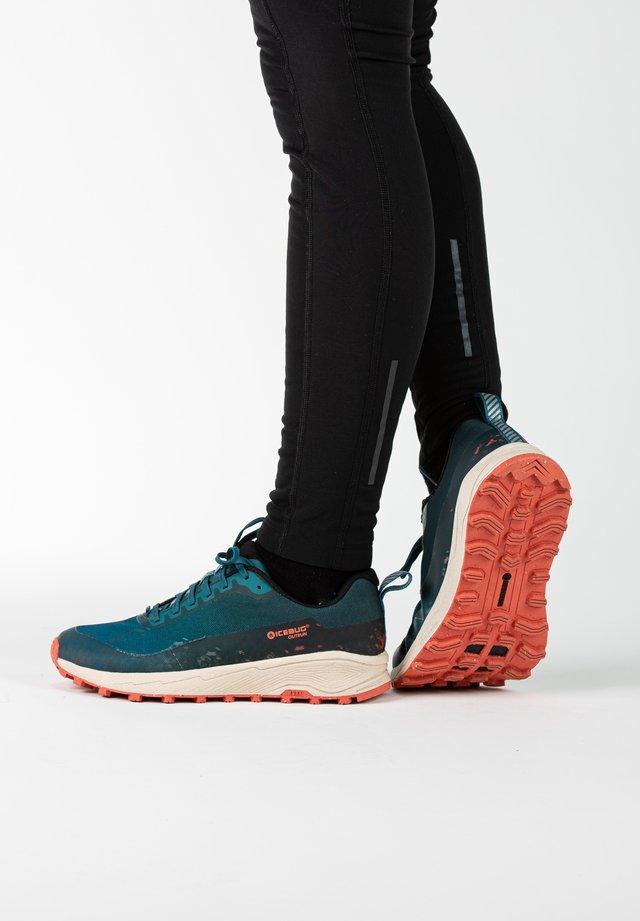 Sneakers laag - teal/mango