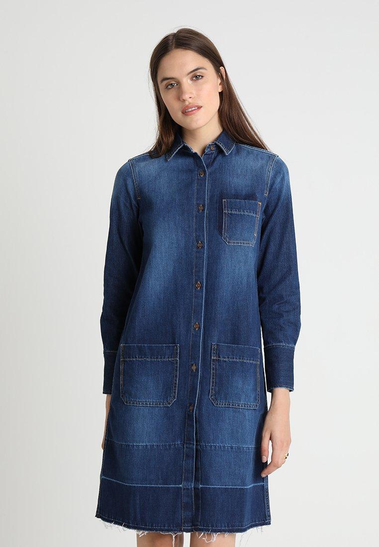 Iden - RELAXED DRESS - Vestito di jeans - mid indigo