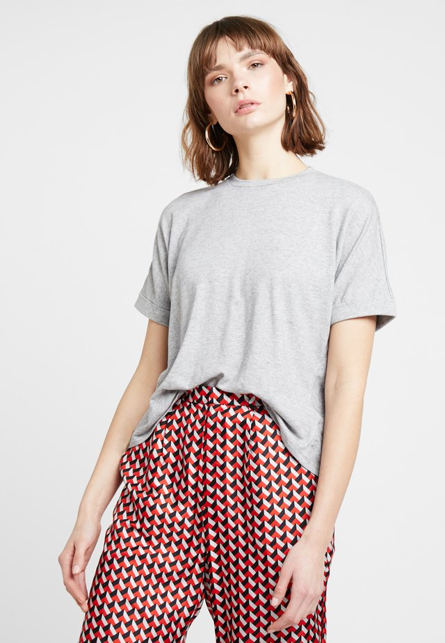 EMMELINE TEE - T-shirts basic - grey melange