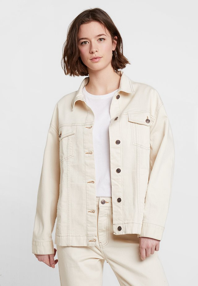 BACK JACKET - Jeansjacka - ivory white