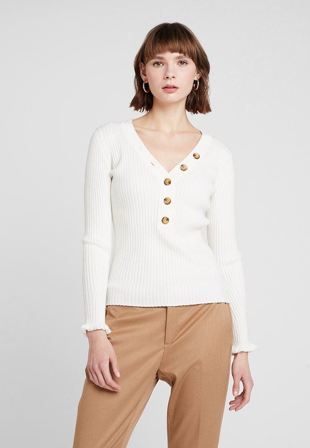 HENLEY - Maglione - ivory white