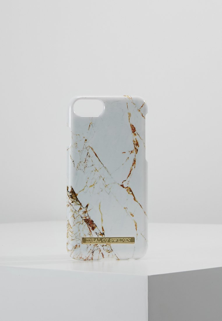 iDeal of Sweden - FASHION CASE MARBLE - Phone case - carrara/gold-coloured