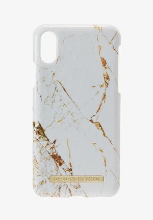 FASHION CASE IPHONE X/XS MARBLE - Handytasche - carrara/gold-coloured