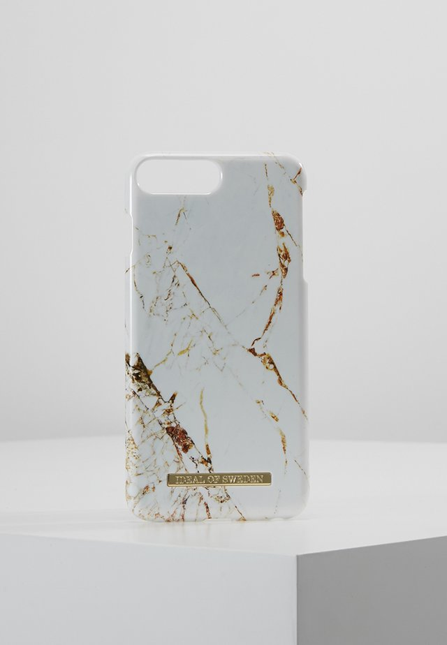 FASHION CASE MARBLE - Phone case - carrara/gold-coloured