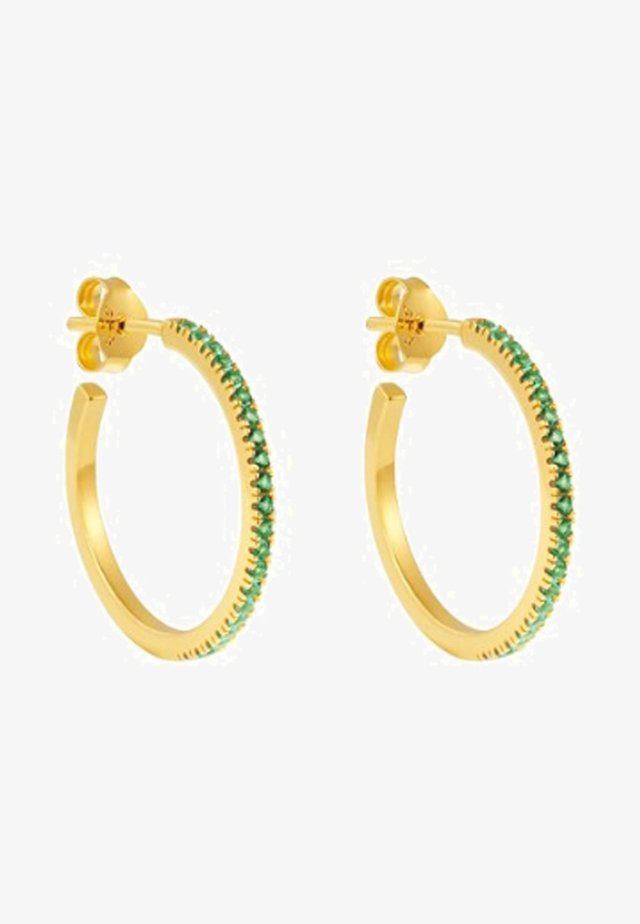 HOOP GREEN SIMPLICITY - Kolczyki - gold coloured
