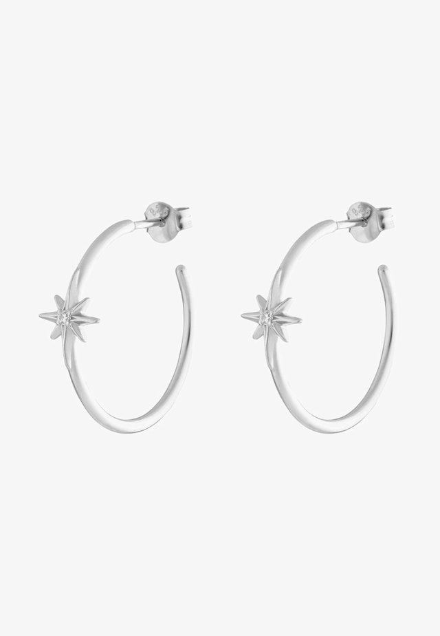 CREOLEN GUIDING STAR - Ohrringe - silver-coloured