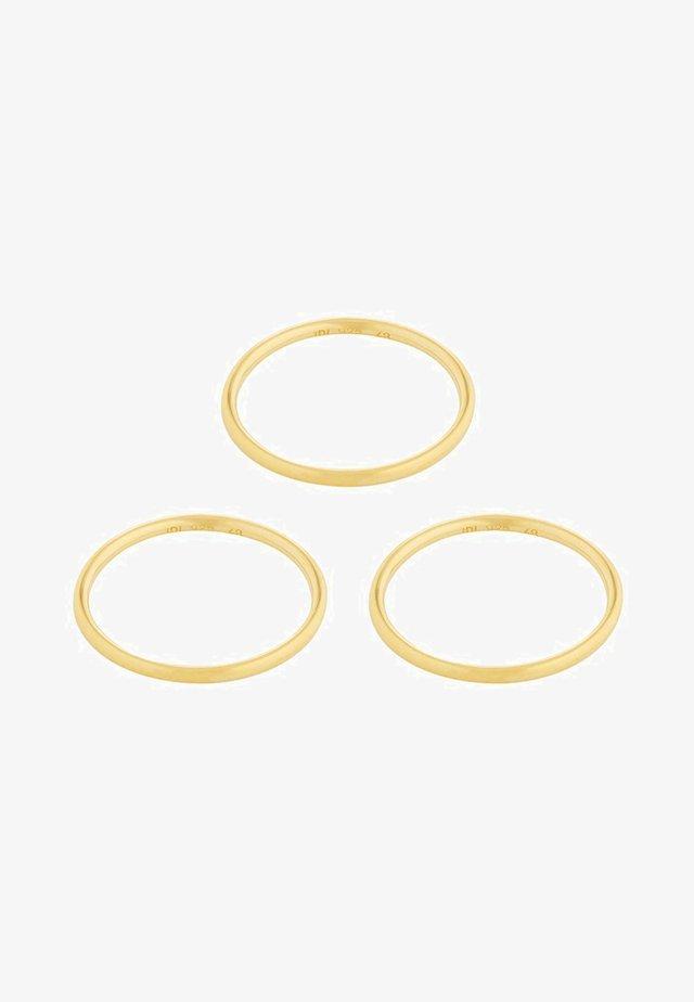 SET - Ringe - gold-coloured