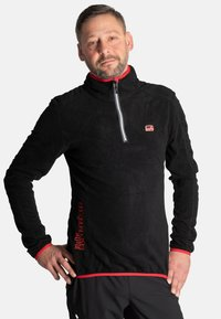 Idepul - ANTON - Fleece jumper - black red - 0
