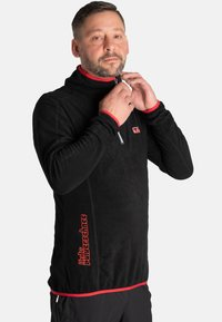Idepul - ANTON - Fleece jumper - black red - 2