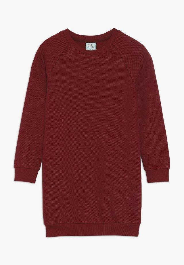 KIDS RAGLAN DRESS  - Jerseyjurk - rhubarb