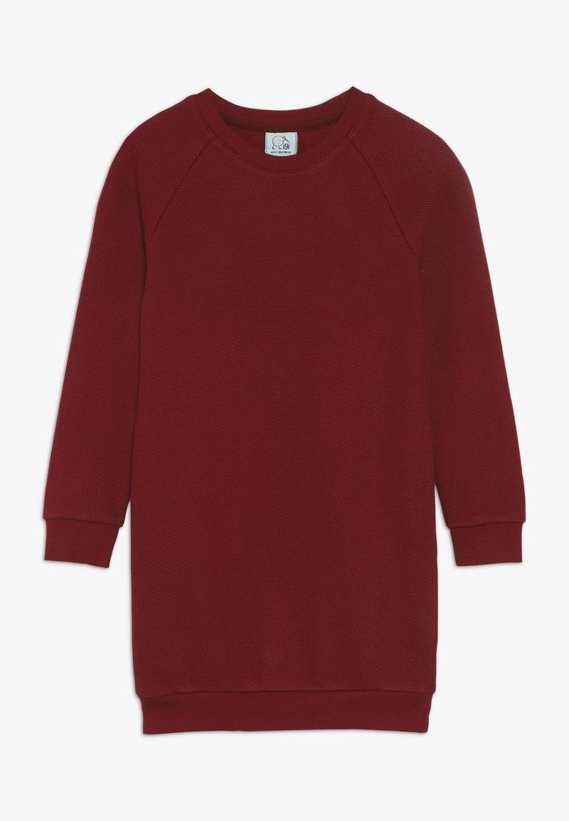igi natur - KIDS RAGLAN DRESS  - Jerseykjoler - rhubarb