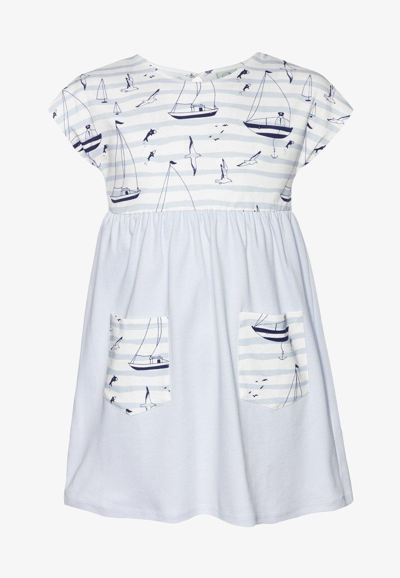 igi natur - CORE SAILOR POCKET DRESS - Žerzejové šaty - light blue